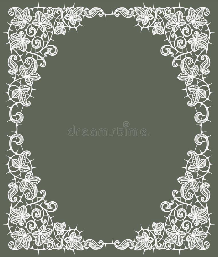 lacy white Karta ilustracji