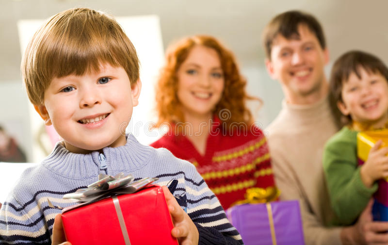 Download Lad with present stock photo. Image of hand, little, foreground - 11762444