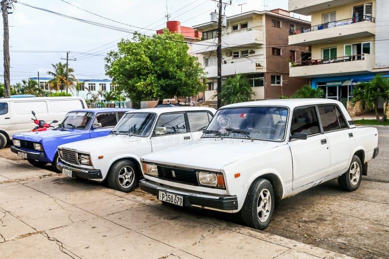 Lada 2105和Lada 2107 图库摄影