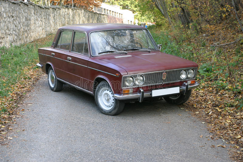 Lada AutoVAZ Zhiguli från 70-tal royaltyfri bild