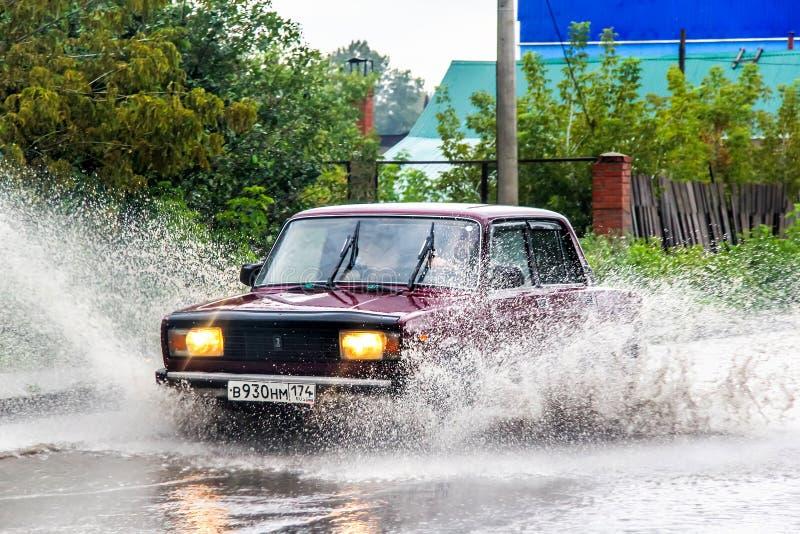 Lada 2107 Zhiguli 库存照片