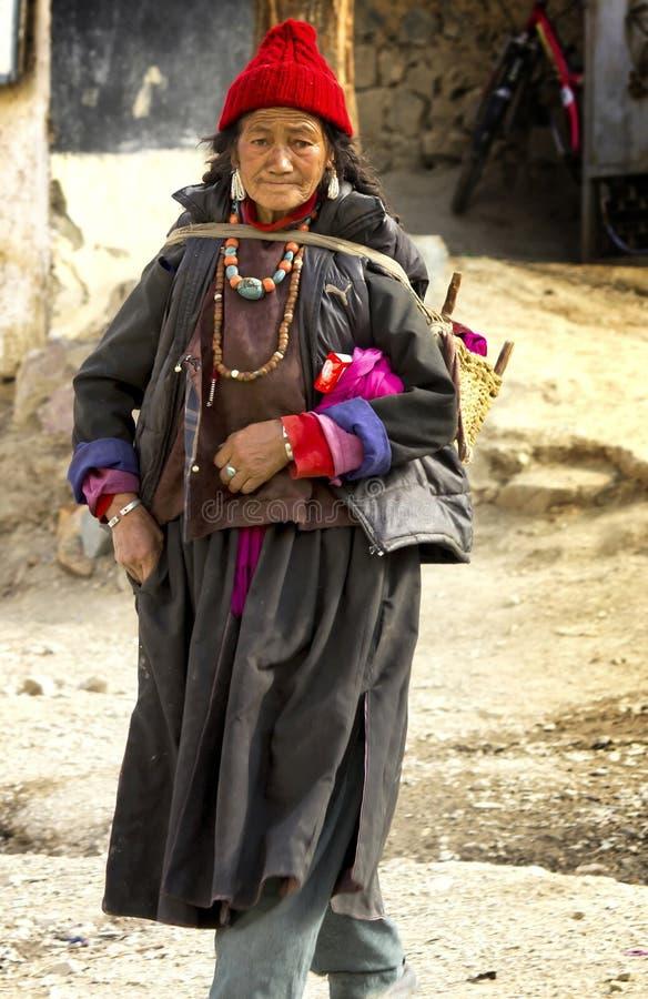 ladakh西藏夫人 免版税图库摄影