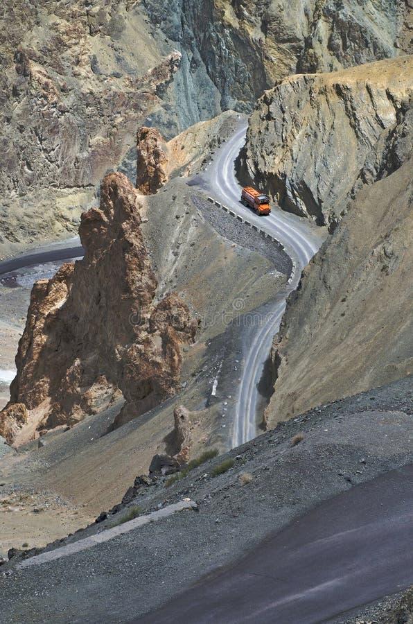 Ladakh-δρόμοι στοκ εικόνες