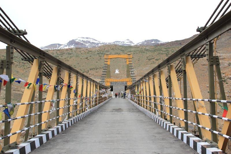 Ladakh del puente de Chicham fotografía de archivo libre de regalías