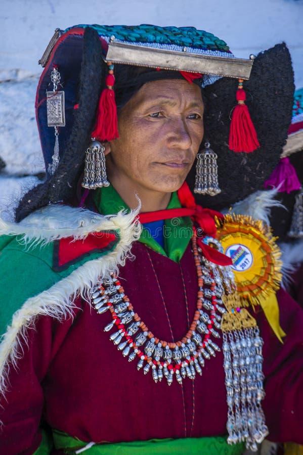 Ladakh festiwal 2017 fotografia royalty free