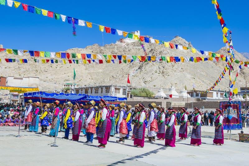 Ladakh festiwal 2017 zdjęcie stock