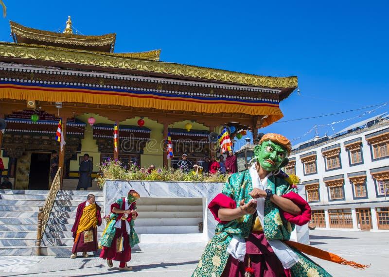 Ladakh festiwal 2017 obraz stock