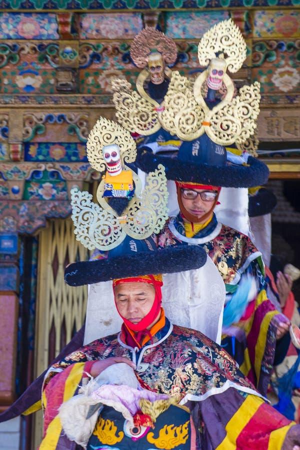 Ladakh festiwal 2017 zdjęcie royalty free