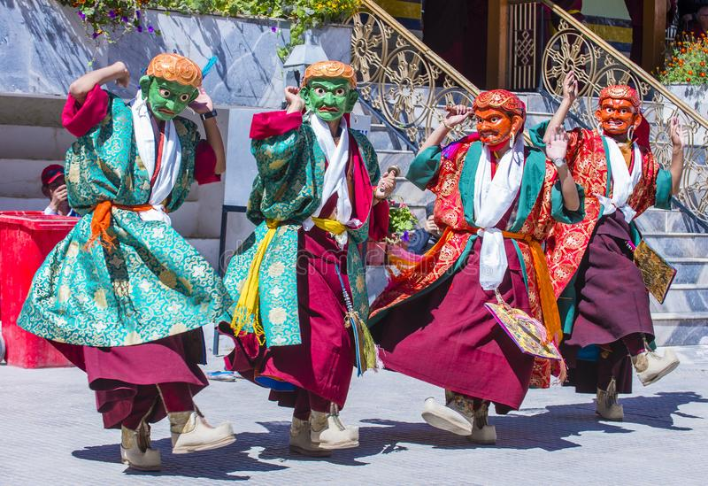 Ladakh festiwal 2017 zdjęcia royalty free