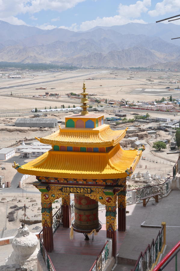 Ladakh, India - View from Spituk Monastery royalty free stock photography