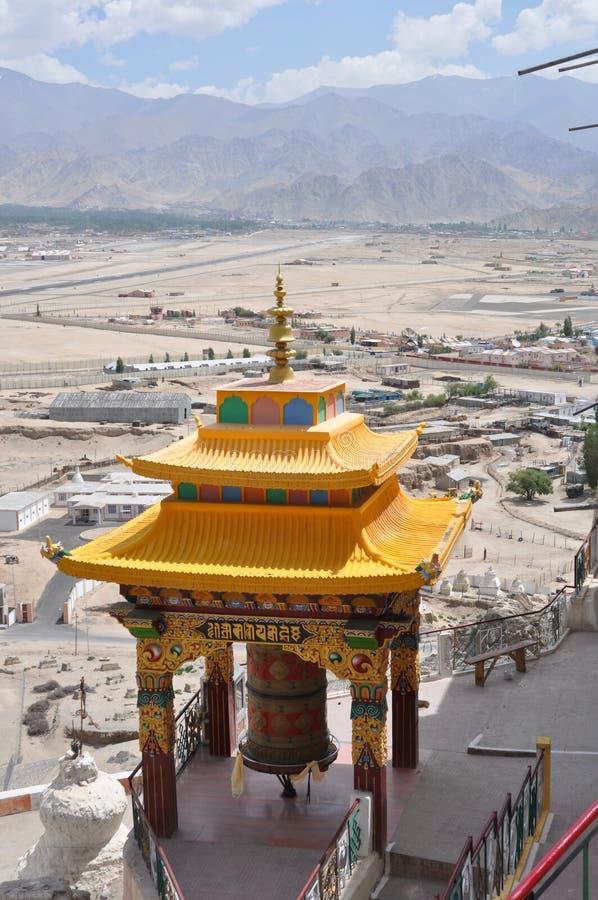 Ladakh, India - vista dal monastero di Spituk fotografia stock libera da diritti