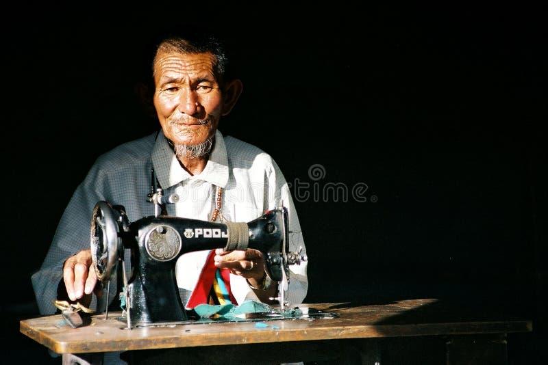 Ladakhi Seamster royalty free stock photo