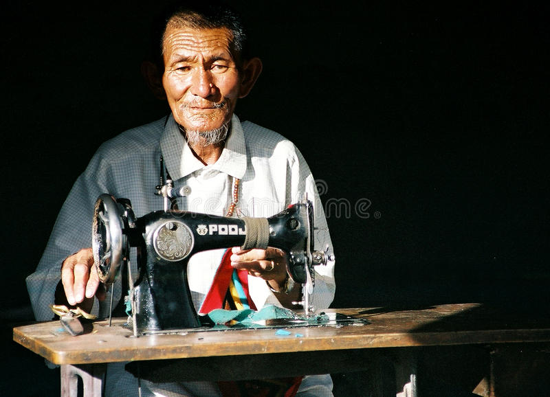 Ladakhi Seamster photo stock