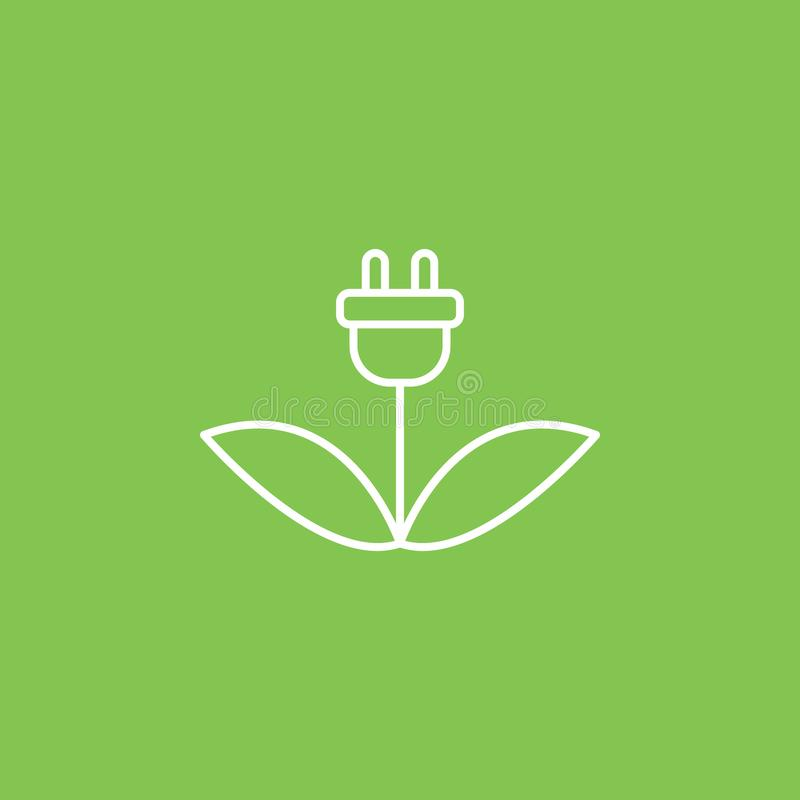 Ladda eco, växtsymbol - vektor Enkel best?ndsdelillustration fr?n UI-begrepp Ladda eco, växtsymbol - vektor Infographic vektor illustrationer