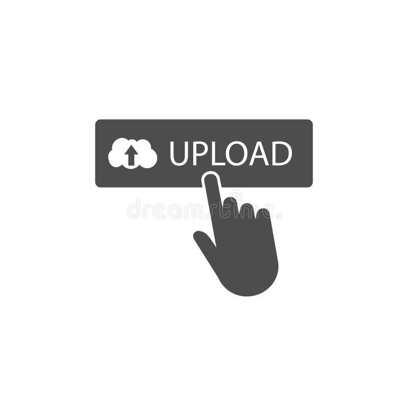Ladda upp knappen, klicken, websitebeståndsdel ocks? vektor f?r coreldrawillustration vektor illustrationer