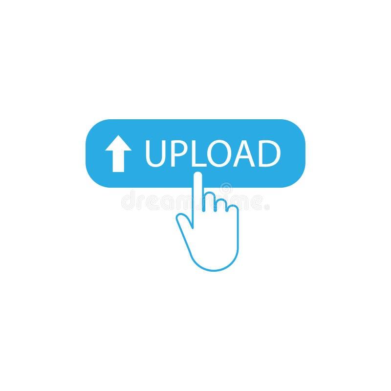 Ladda upp knappen, klicken, websitebest?ndsdel ocks? vektor f?r coreldrawillustration royaltyfri illustrationer