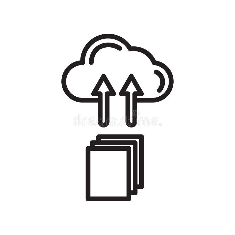 Ladda upp tecknet och symbolet för mappsymbolsvektor som isoleras på vit backgr royaltyfri illustrationer
