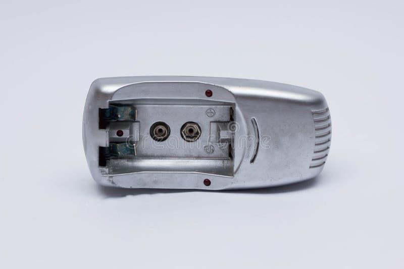 Laddande elektriska motorförbundetbatterier arkivbilder