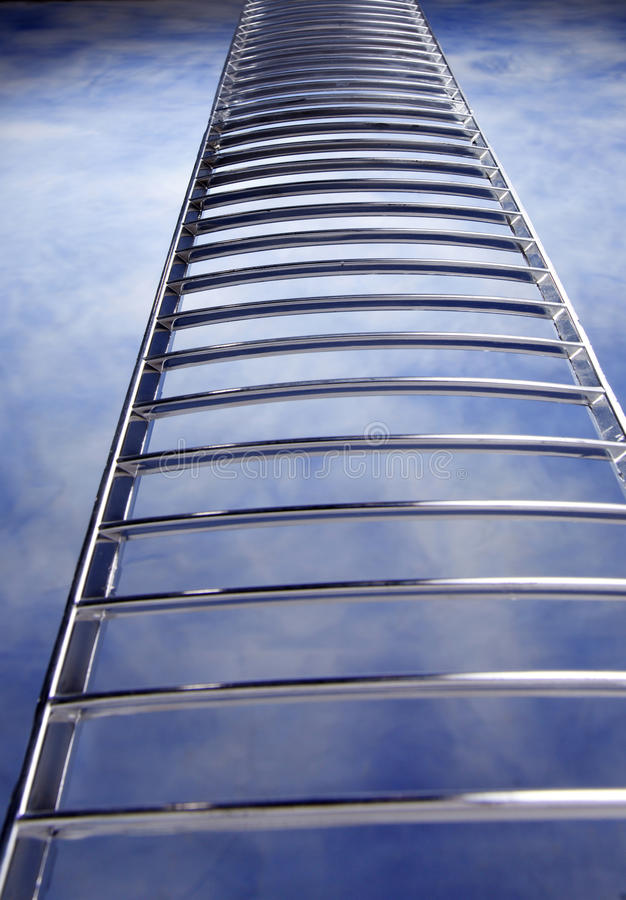 Ladder. Stock image of ladder in the sky stock images