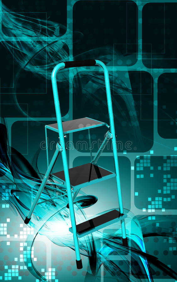 Download Ladder stock illustration. Image of blue, ladder, climbing - 21413789