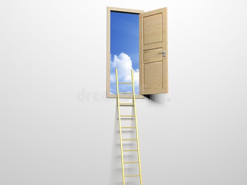 Ladder aan de hemel royalty-vrije illustratie