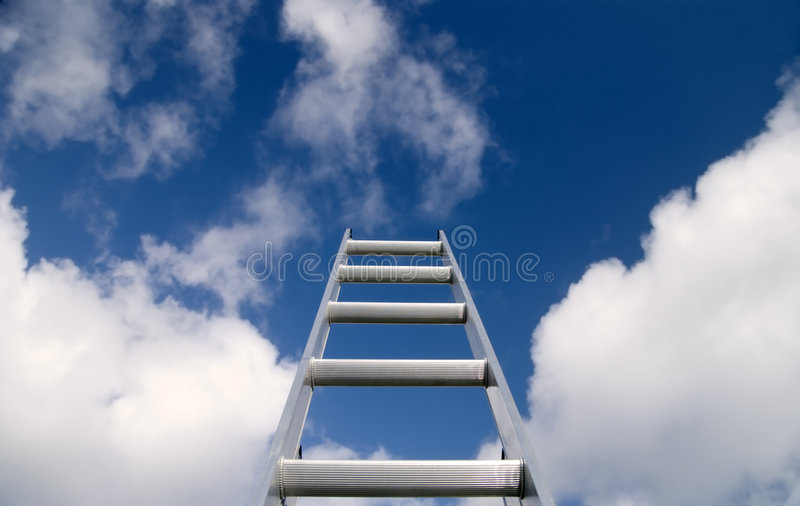 Ladder aan de Hemel stock foto