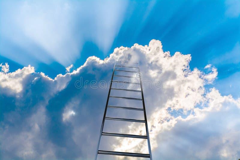 Ladder aan hemel royalty-vrije stock fotografie