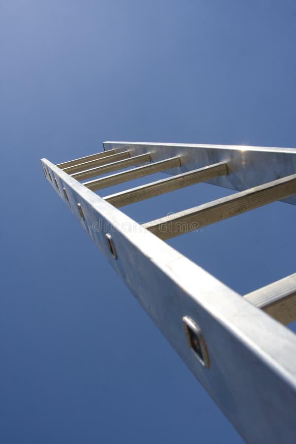 Ladder aan hemel stock foto
