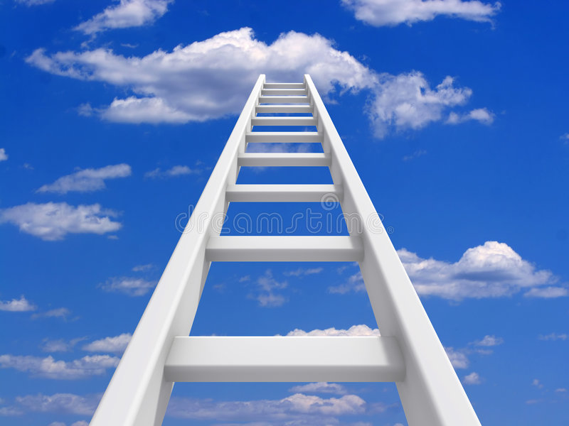 Ladder aan hemel royalty-vrije illustratie