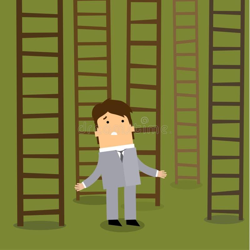 LADDER AAN SUCCES Bedrijfskeuzenconcept royalty-vrije illustratie
