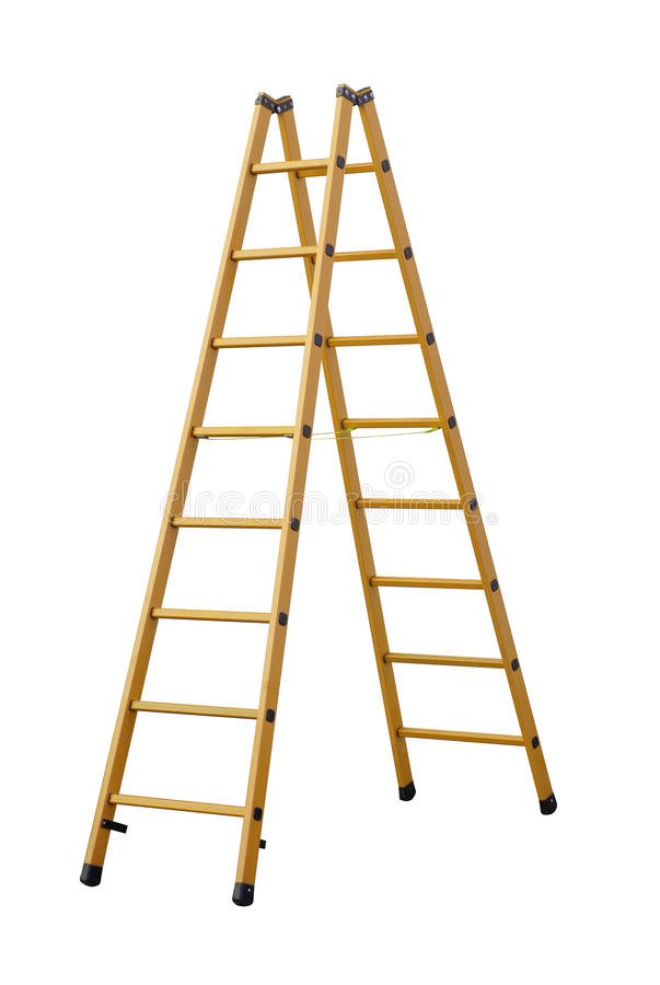 Ladder (Clipping path) isolated on white background stock illustration