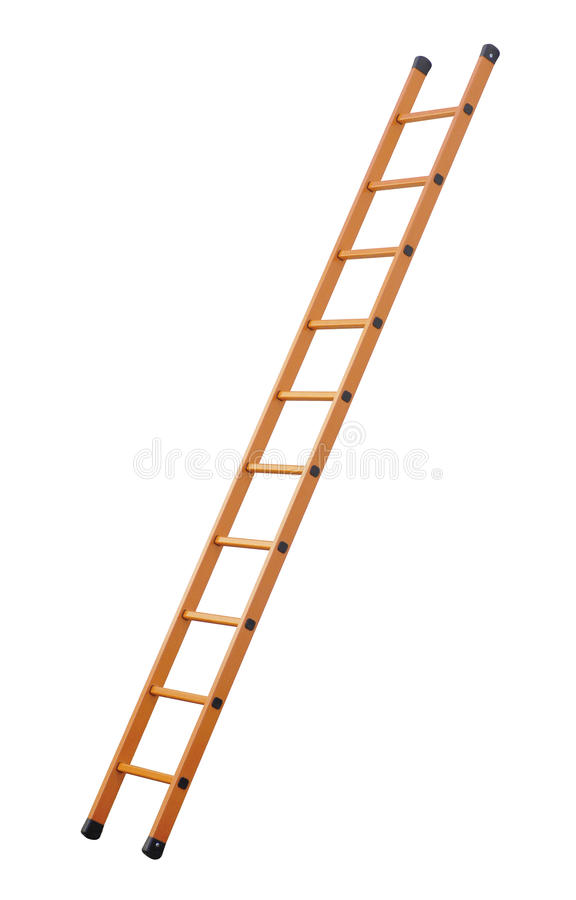 Ladder (Clipping Path) Isolated On White Background Stock Photo