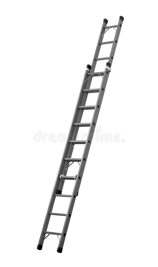 Ladder (Clipping path) isolated on white background stock image