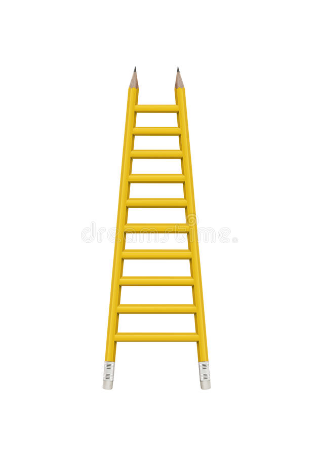 Download Ladder with clipping path stock image. Image of lesson - 15102639