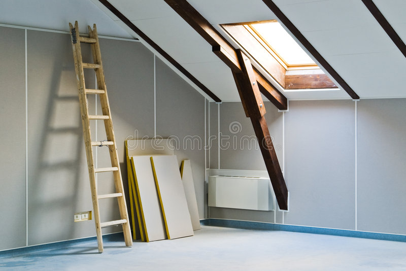 Ladder and construction materials stock photography