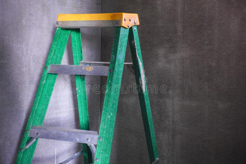 Ladder in the corner. royalty free stock photo