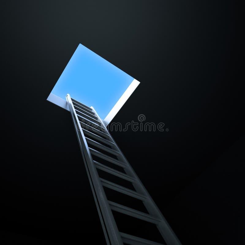 Ladder die tot het licht leidt stock illustratie