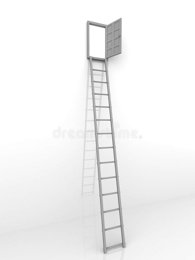 Download Ladder and door stock illustration. Illustration of future - 8577739