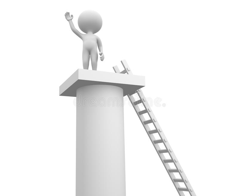 Ladder en een kolom. royalty-vrije illustratie