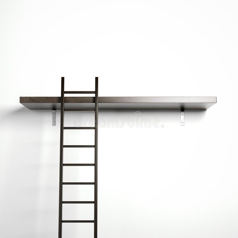 Ladder en houten plank royalty-vrije illustratie