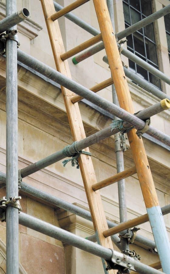 Ladder en steiger royalty-vrije stock afbeeldingen