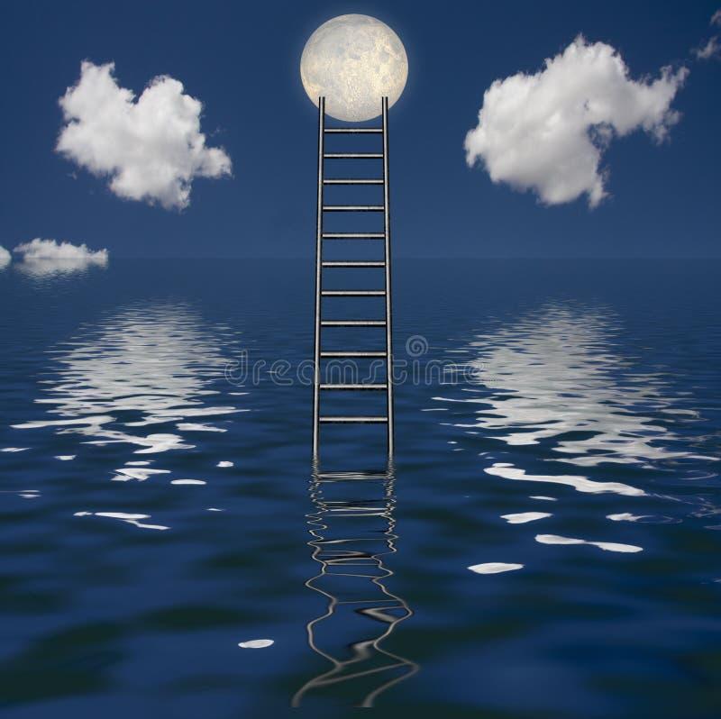 Ladder en Watermassa stock afbeelding