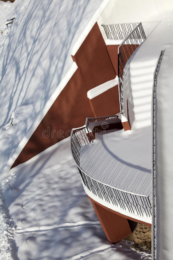Download Ladder exterior stock photo. Image of danger, leading - 14136034