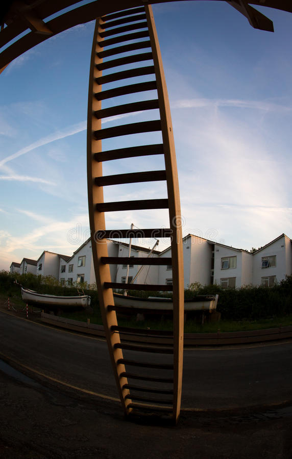 Ladder. With fisheye royalty free stock images