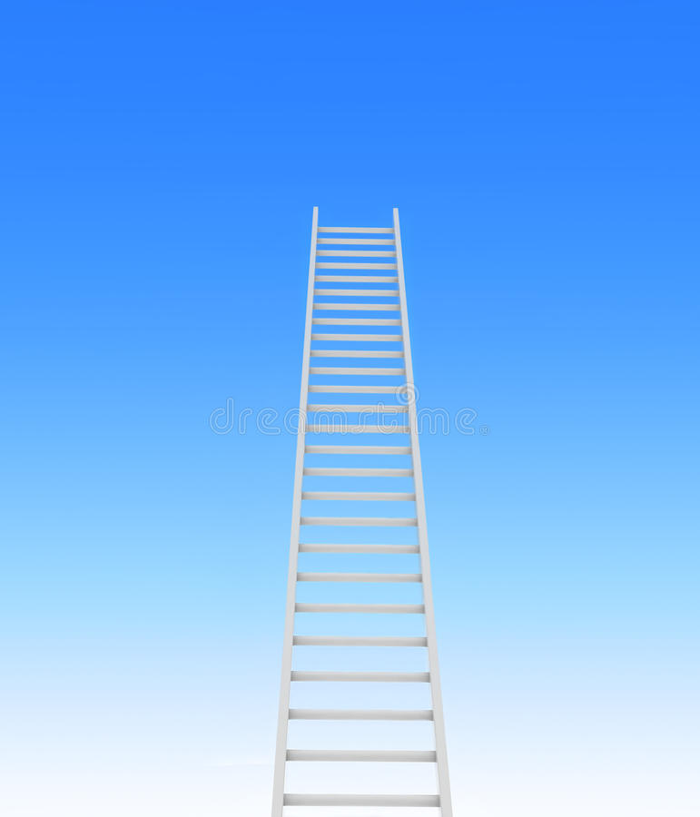 Ladder leading to a sky