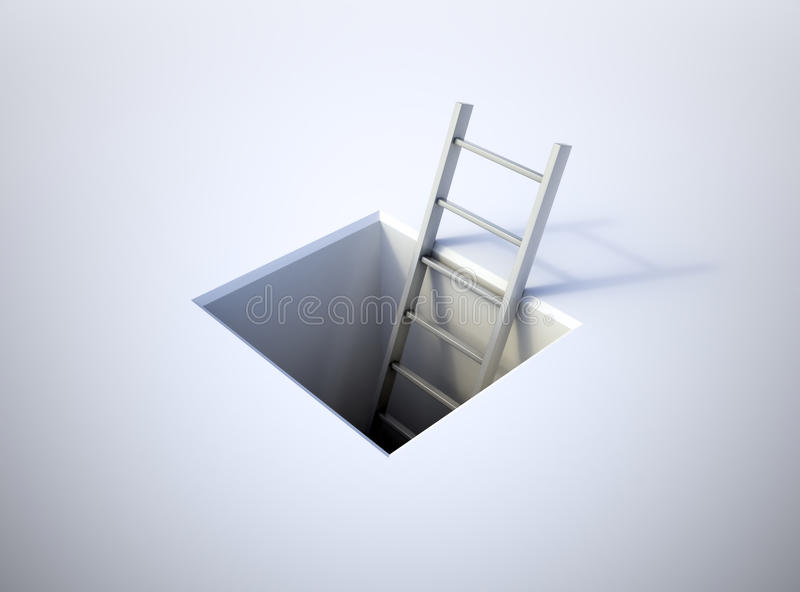 Ladder Leading From Underground Royalty Free Stock Photography