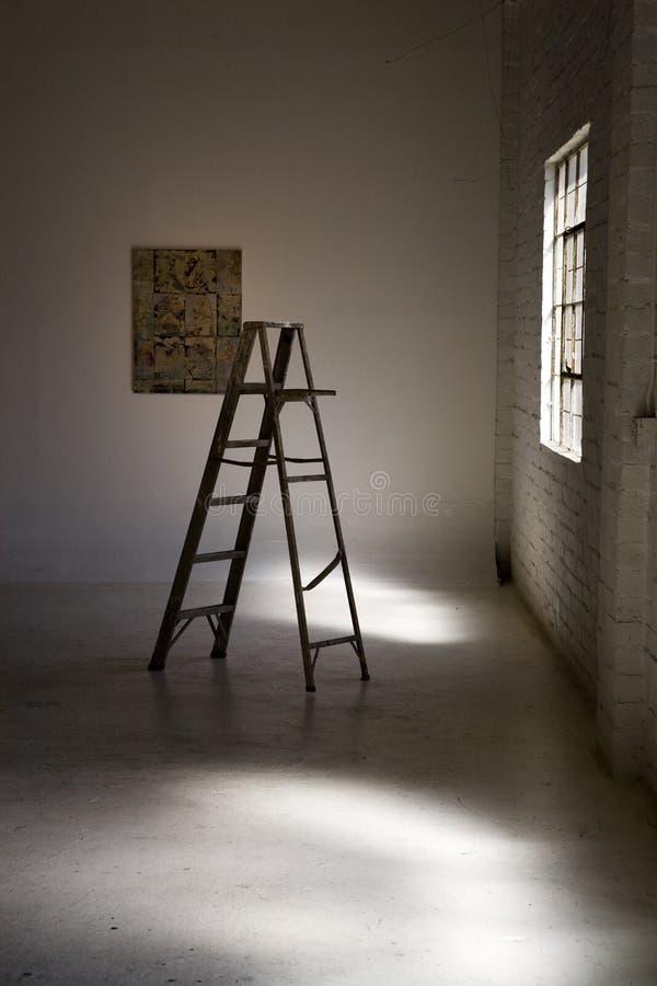 Ladder in Licht stock foto