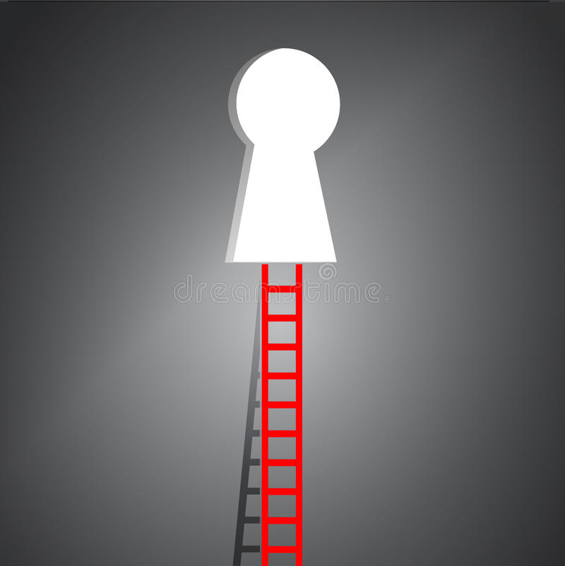 Ladder om het ontwerp van de gatenillustratie te sluiten vector illustratie