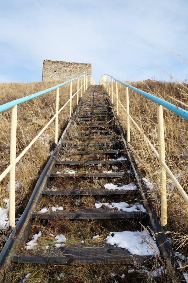 Ladder op een berg! royalty-vrije stock foto