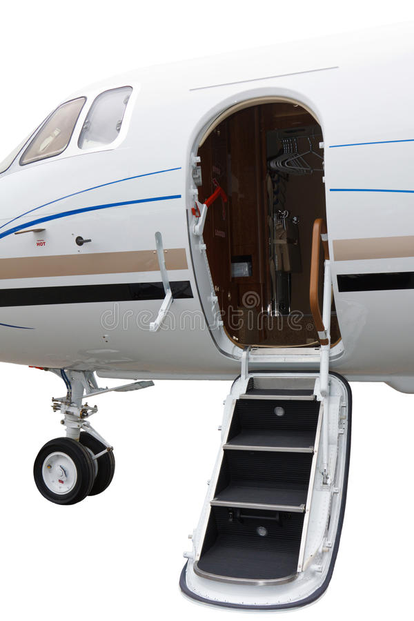 Ladder in a private jet royalty free stock photo